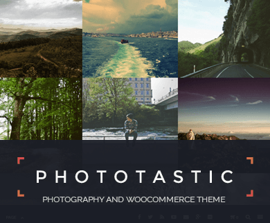 Photographer - Portfolio WordPress Theme