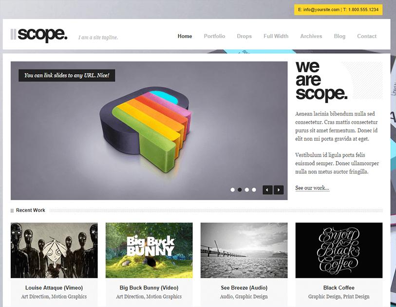 scope - video wordpress theme
