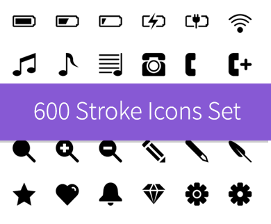 600 Best Stroke Icons