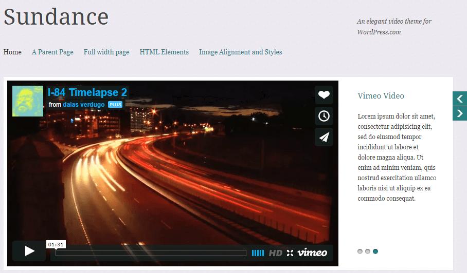 sundance - video wordpress theme