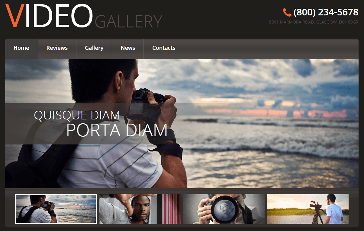 video gallery video wordpress theme