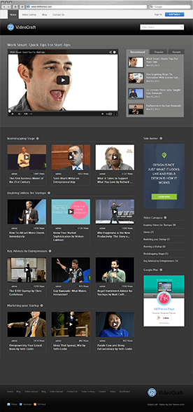Video Craft Theme Previews (Multiple Examples)