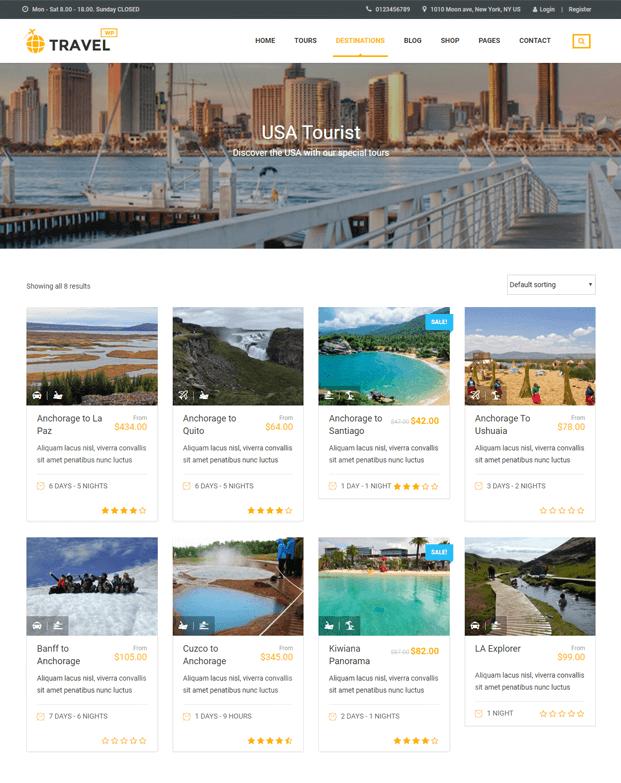 Travel WP - Tour Booking WordPress Theme