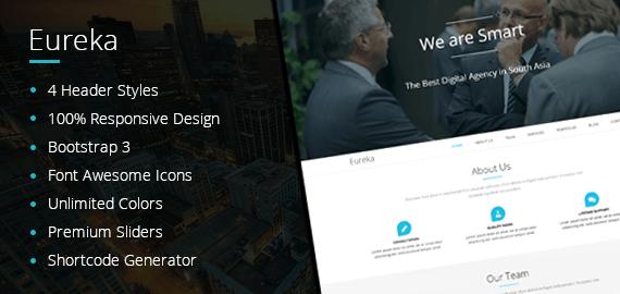 EUREKA – One Page Best WordPress Theme