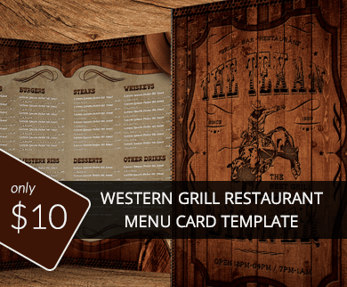 Hotel & Restaurant Menu Cards PSD Design