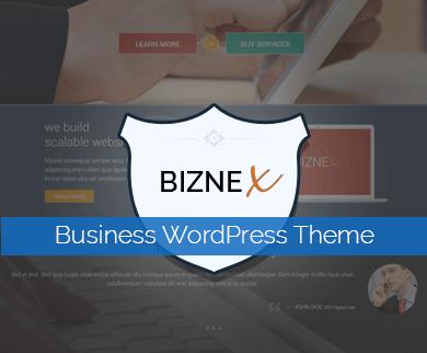 Biznex - Twitter Bootstrap Built WordPress Business Theme