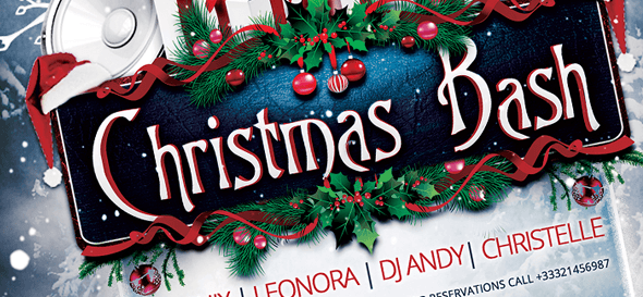 flyer template - christmas bash