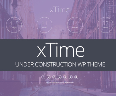 Coming Soon Landing Page Template for Under Construction Websites