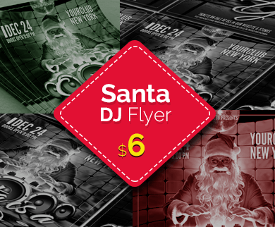 Santa - Christmas DJ Flyer Template
