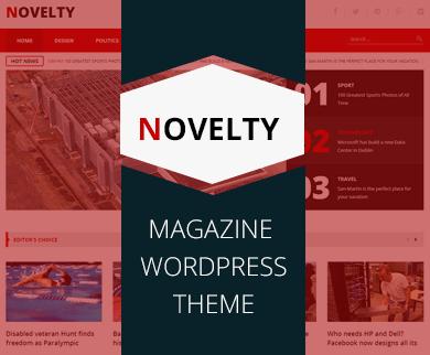 Novelty – News Magazine WordPress Theme