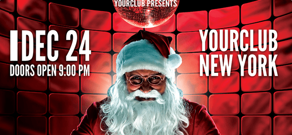 Flyer template - christmas event and party