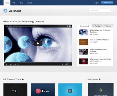 VideoCraft - WordPress Video Theme