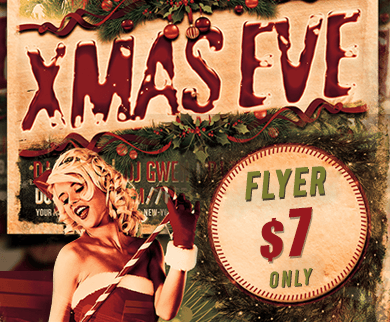 Flyer Template for Christmas Eve Party and Event Promotion