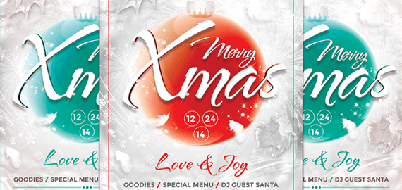 Promotional Christmas flyer Template for Business