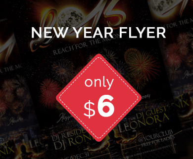 Flyer Template to Promote Parties And Events On New Year