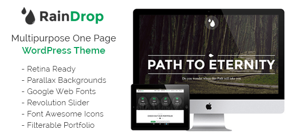 Raindrop – Multipurpose Feature WordPress One Page Theme