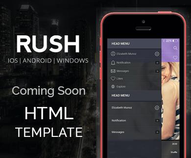 RUSH - Responsive Coming Soon Template