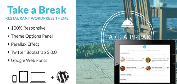 Take A Break – Restaurant WordPress Theme