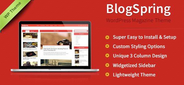 blogspring - business blog wordpress theme