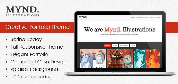 Mynd – Portfolio and Blog WordPress Theme