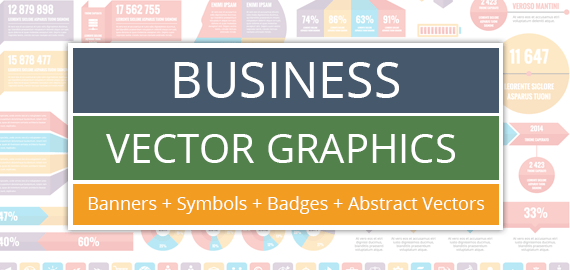 Business Vector Graphics – Banners, Badges and Infographic elements