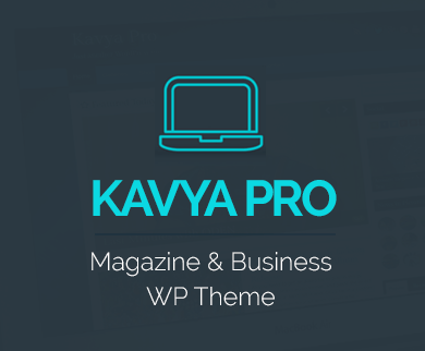 Kavya Pro - Blog And Magazine WordPress Theme