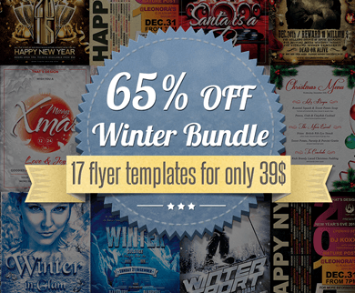 17 Business Flyer Templates for Christmas, Winter and New Year