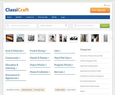 ClassiCraft - WordPress Classified Listing Theme