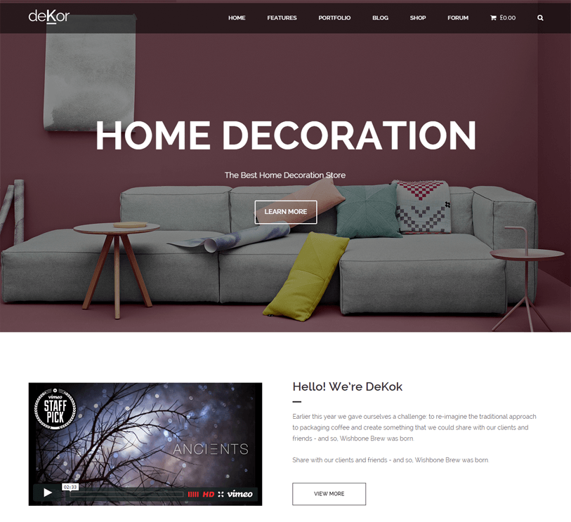 Dekor - woocommerce wordpress theme