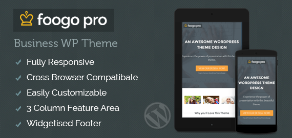 FOOGO PRO - WORDPRESS BUSINESS THEME