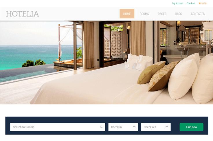 hotelia - woocommerce wordpress theme