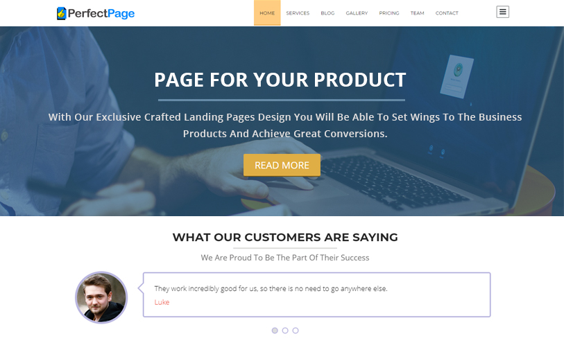 PerfectPage WordPress Theme