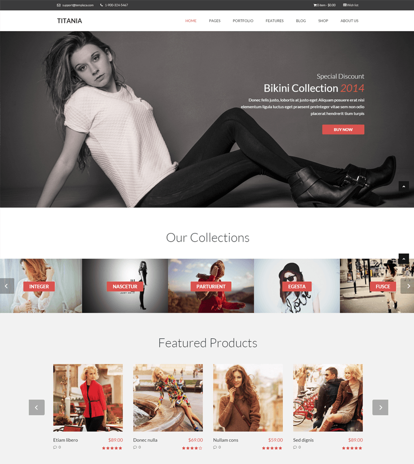 Titania - woocommerce web store wordpress theme