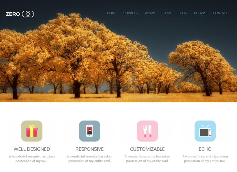 Zero - simple woocommerce wordpress theme
