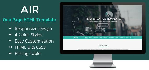 Fully Customizable HTML Website Template