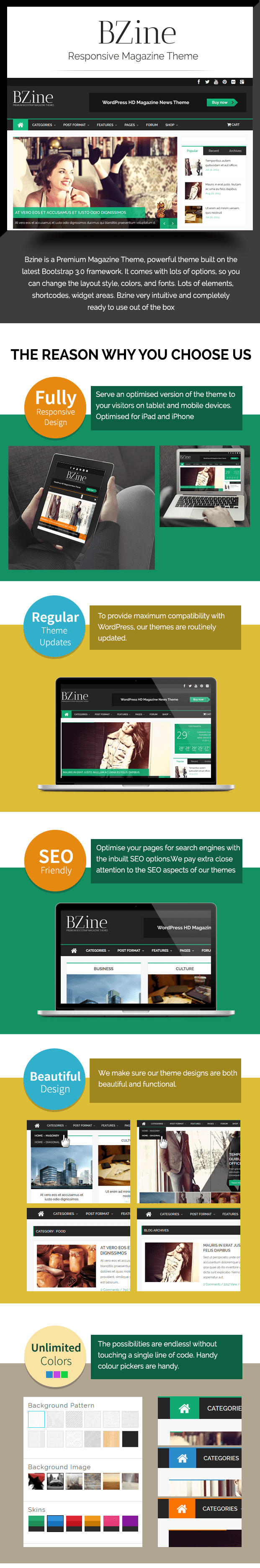 bzine magazine wordpress theme