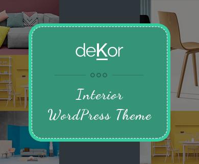 Dekor - Furniture WordPress Theme for Carpenters