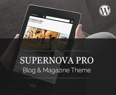 Supernova Pro - The Fast Loading WordPress Blog Theme