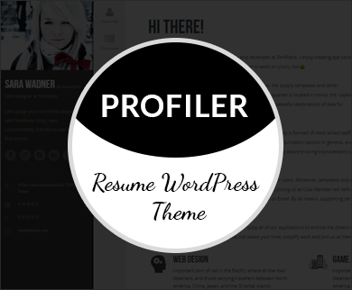 Profiler - WordPress Resume Theme