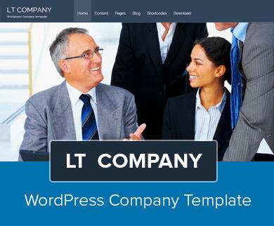 LT Company - A WordPress Theme for Small Entrepreneurs