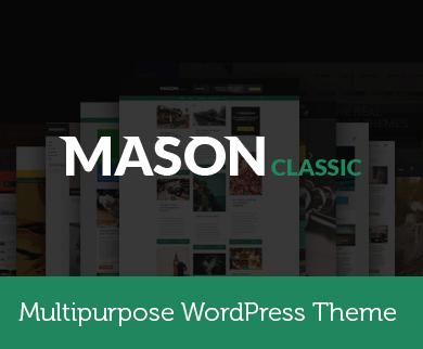Mason - Ultra Responsive Multipurpose WooCommece WordPress Theme