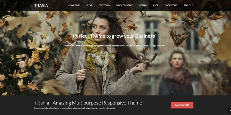 Titania - beautiful and responsive multipurpose wordpress theme