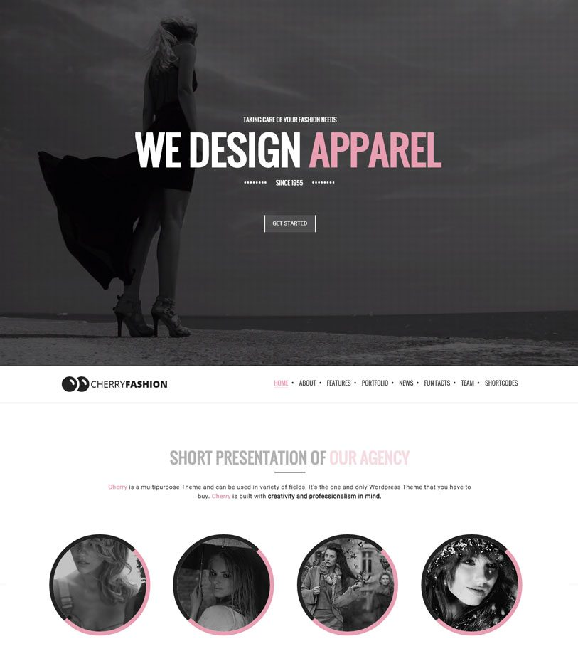 cherry-Fashion beautiful and responsive one page multipurpose wordpress theme