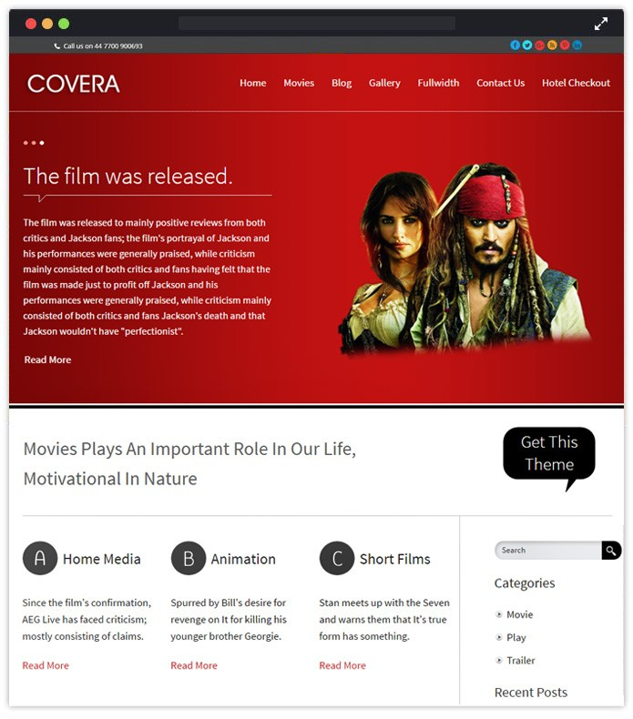 Covera- Beautiful Responsive WordPress Themes
