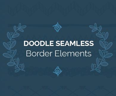 Doodle Seamless Patterns, Border Elements, Frames & Brackets