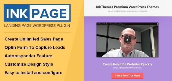 InkPage – Landing Page WordPress Plugin