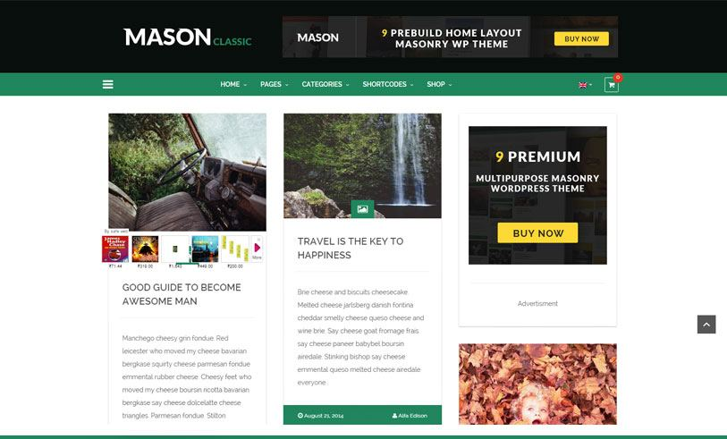 mason- beautiful and responsive multipurpose wordpress theme