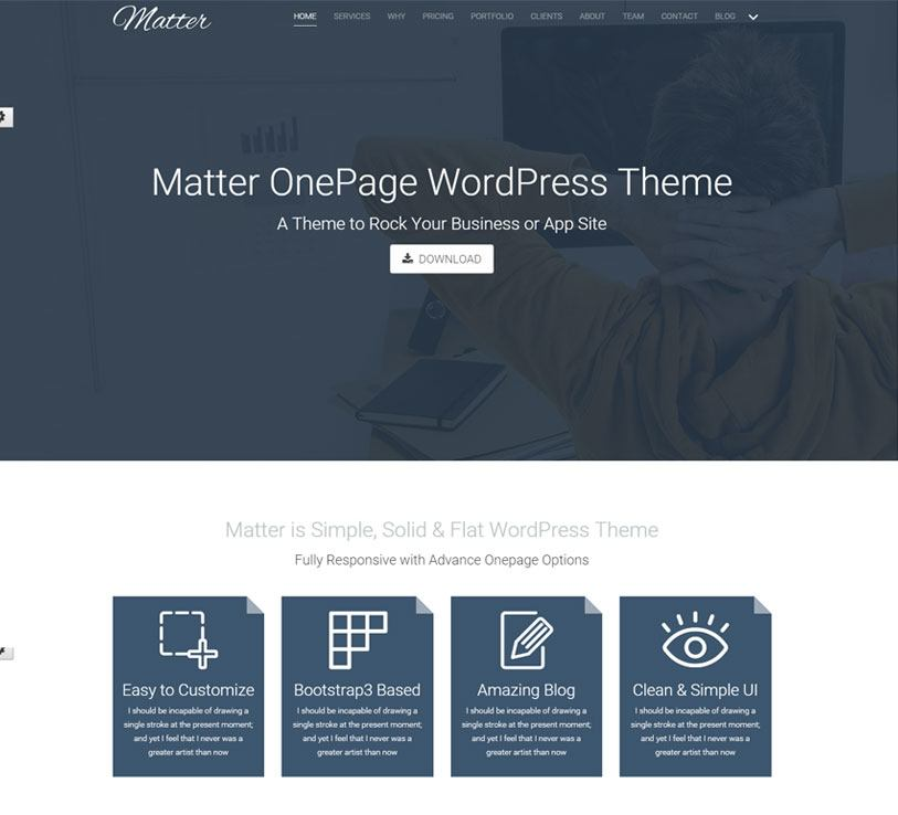 matter - beautiful and responsive multipurpose wordpress theme