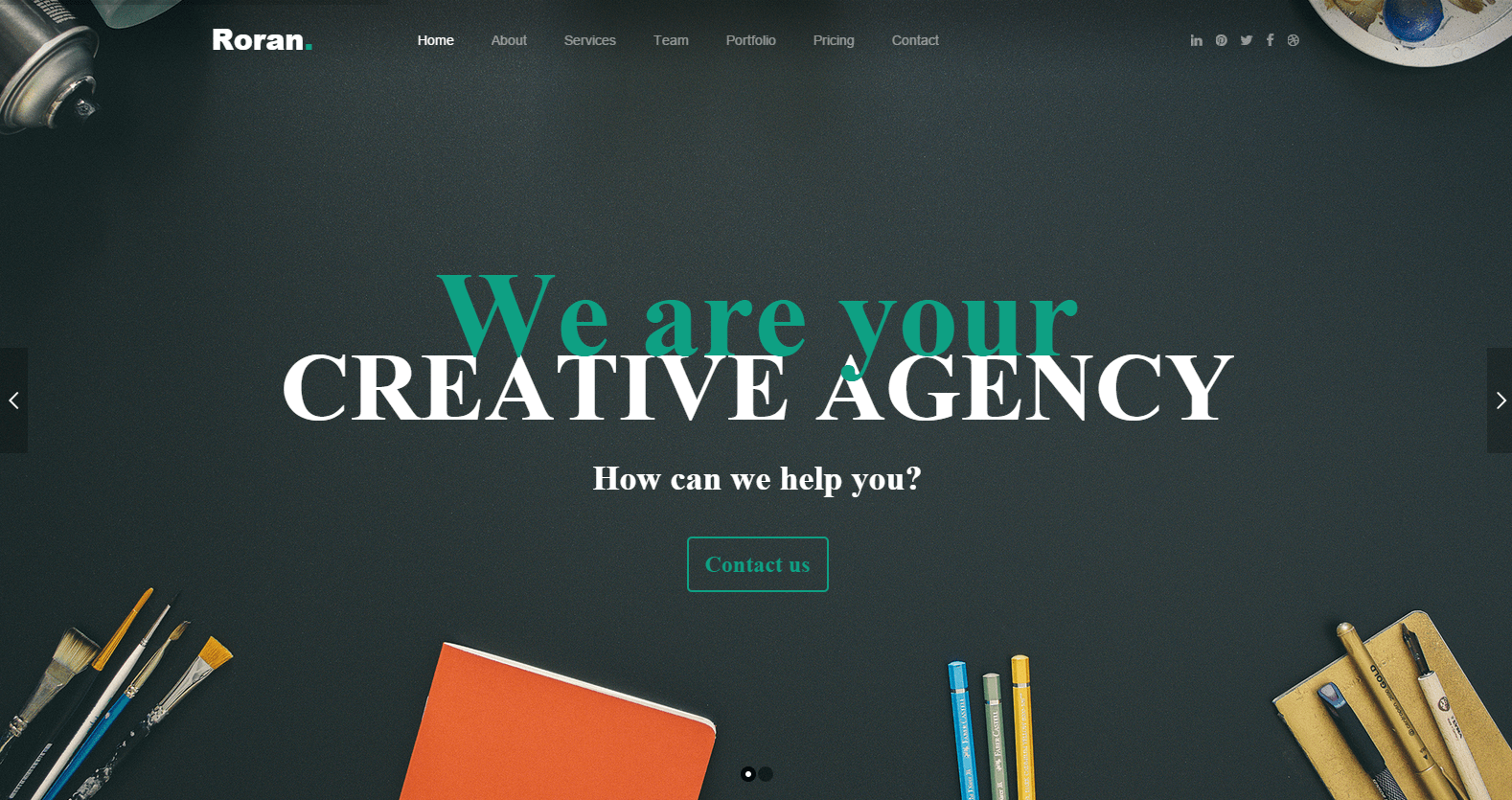 roran landing page wordpress theme