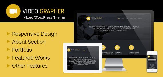 Videographer – WordPress Responsive Video Theme